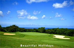 tourists enjoying an caribbean golf holidays holiday