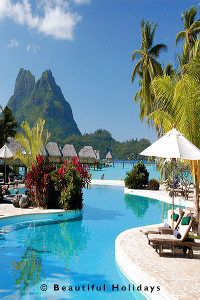 luxury resort on moorea island in french polynesia